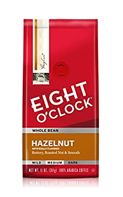 Eight O'Clock Hazelnut Whole Bean Coffee, 11-Ounce Bags (Pack of 6) from Eight O Clock Coffee Company