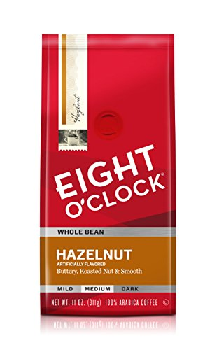 Eight O'Clock Whole Bean Coffee, Hazelnut, 11 Ounce (Pack of 6) ()