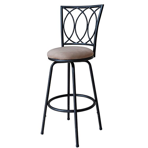 Roundhill Furniture Redico Adjustable Metal Barstool