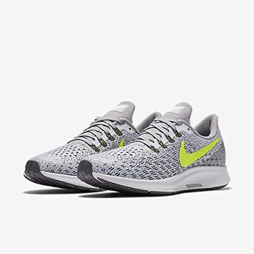 Volt Air - Nike Women's Air Zoom Pegasus 35 Running Shoes White/Gunsmoke/Atmosphere Grey/Volt 6 B(M) US