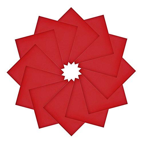 Alotpower Cotton Bandanas Multifunctional Solid Color Headband Handkerchiefs,Red -