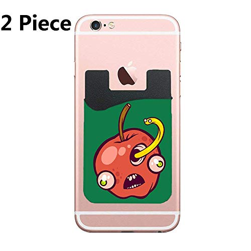 - Holey Apple Premium PU Phone Card Holder Stick On Wallet for iPhone and Android Smartphones Kangaroo