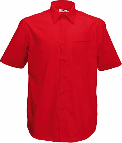 Red En Ss116 Popeline Courtes Chemise Of Loom The Manches Fruit À O1w0vAq7wx