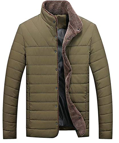Jacket 2 Winter TTYLLMAO Quilted Plus Collar Size Coat Outwear Men's Stand Ultralight nzzYgPwqx