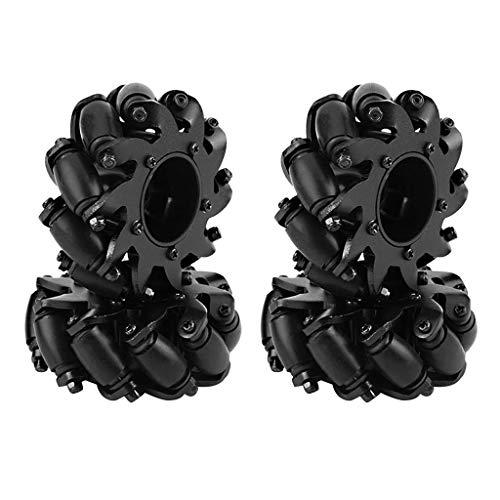 Hukai 4pcs Aluminum Alloy Turbowing Drive Wheel Robot Kit Omnidirectional Wheels for Mecanum