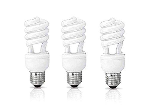 - (3 Pack) Circle 13 Watt (60 Watt) Compact Fluorescent Light, Daylight 6500K, Mini Spiral Medium Base CFL Light Bulbs