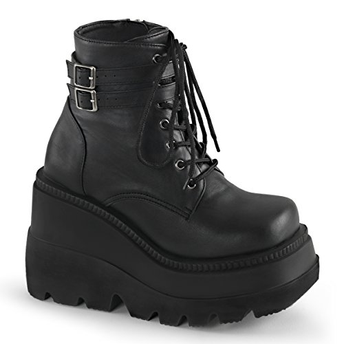 Demonia SHAKER-52 Womens Boots, Blk Vegan Leather, Size - 7