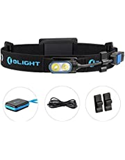 Olight® HS2 Head Torch 400 Lumens Running Headlight Brightest Compact Rechargeable Headlamp with Cree XP-G2 CW LED for Night Running Camping Mountaineering and other Outdoor Activities NEW