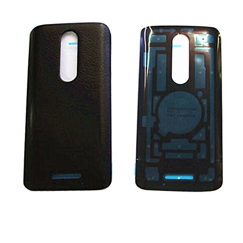 Eaglestar XT1585 Rear Panel Back Cover Replacement Parts for Motorola Droid Turbo 2 XT1585 XT1581 XT1580-Leather Black