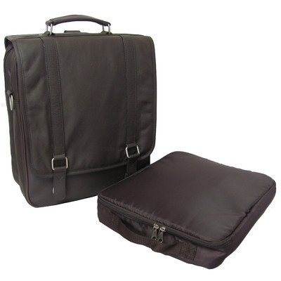 AmeriLeather Leather Laptop Backpack Briefcase (Dark Brown)