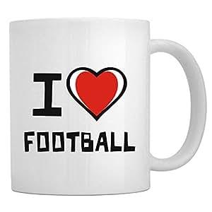 Teeburon I love Football Mug