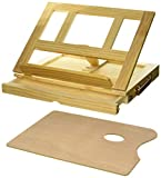 Art Alternatives Marquis Artists Adjustable Desk Box Easel, Natural