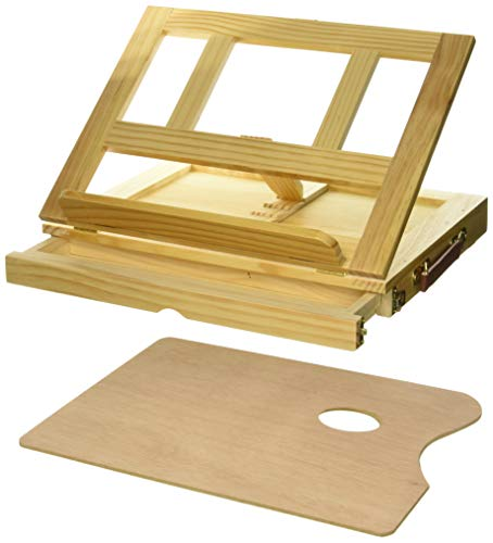 Art Alternatives Marquis Artists Adjustable Desk Box Easel, Natural ()