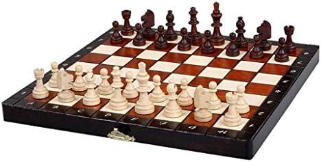 Yyqx Ajedrez Ajedrez Mesa de Madera Chinos Juegos de ajedrez ...