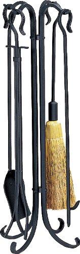(Uniflame, F-1128, 5 Pc. Black Heavy Weight Rustic Fireset)