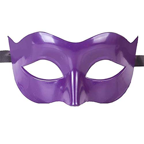 MMMMM Face mask Shield Veil Guard Screen Domino False Front Halloween Fancy Dress Dance mask Venice mask face Dance mask Purple,Purple ()