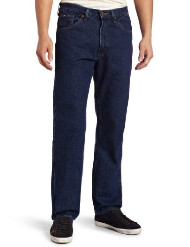 Blue Straight Leg Button (Lee Men's Regular Fit Straight Leg Jean, Dark Stone, 31W x 34L)