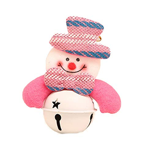 Hemore 2 Pack Christmas Jingle Bell Doll Pendant White Bell Ornaments Pendant Christmas Tree Hanging Charms Snowman