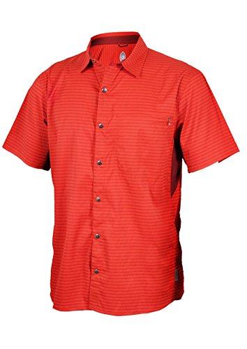 Club Ride Apparel Vibe Biking Shirt - Men's Short Sleeve Cycling Jersey - Rust - Large