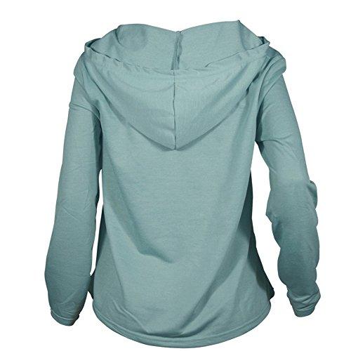 Veste Chemise en Sexy Longues Capuche Pull green Manches Vtements Sweat Shirt Dentelle LILICAT Culture Veste Mode qv7RA7