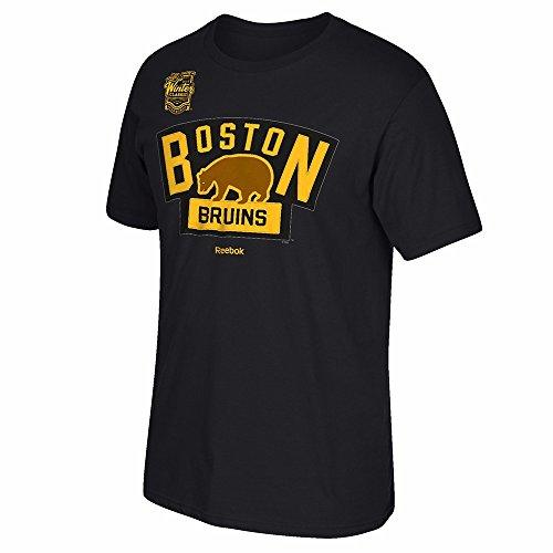 NHL Boston Bruins Men's 2016 Winter Classic Team Logo Tee, XX-Large, Black Reebok Classic T-shirt