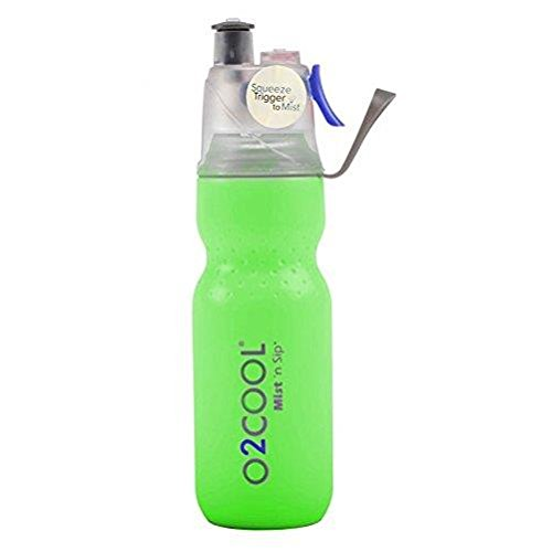 Price comparison product image O2 Cool Mist 'N Sip Drinking and Misting Bottle ArcticSqueeze Classic green OPEN BOX