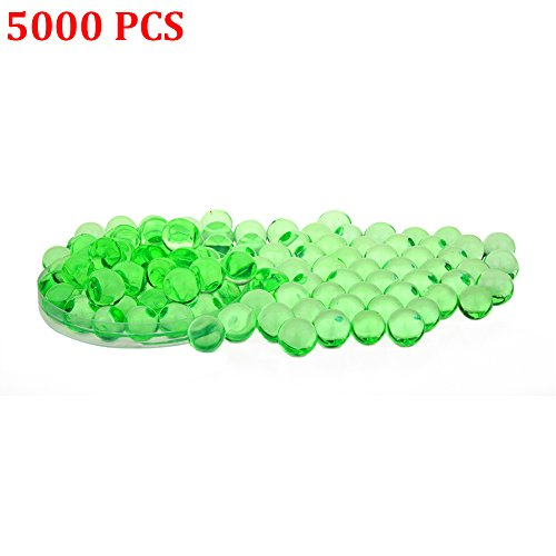 Candora 5000pcs Water Beads Crystals Mud Crystal Water Gel Beads Soil Beads Crystal Soil Plant Flower Jelly Crystal Soil Mud Water Pearls Gel Beads Balls for Kids Vases (2# Green) - Lime Time Pearl