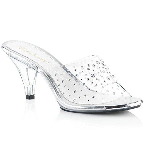 - Fabulicious Women's Belle 301RS Dress Sandal, Clear, 9 M US