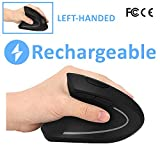 Left Handed Mouse, Left Hand Ergonomic Mouse-Ulytech Rechargeable...