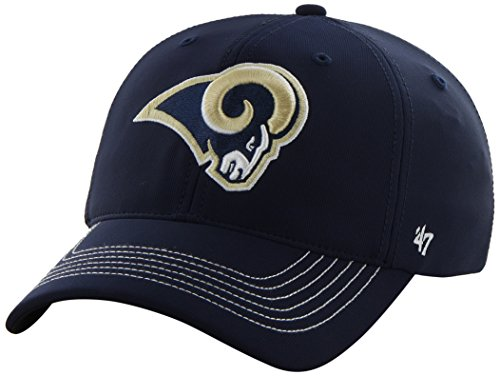 NFL St. Louis Rams '47 Brand Game Time Closer Stretch Fit Hat, Light Navy, One Size Stretch (Rams Louis Light)