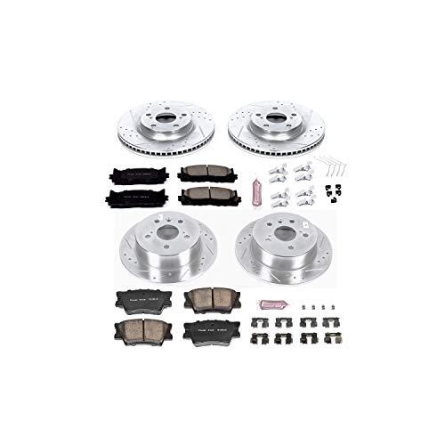 Power Stop K6480 Front & Rear Brake Kit with Drilled/Slotted Brake Rotors and Z23 Evolution Ceramic Brake - Stop Se Custom