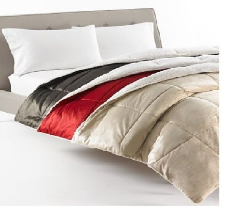 Park Avenue Bedding, Royal Micromink Twin Comforter Red