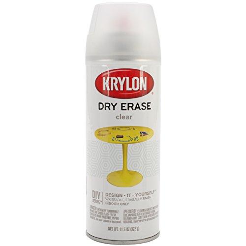 Krylon Dry Erase Aerosol Spray, 11.5-Ounce, Clear