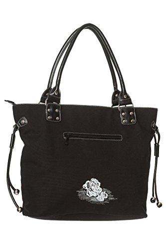 Banned Skulls Apparel Women's Rockabilly Handbag Punk Roses amp; p8pqB6rw