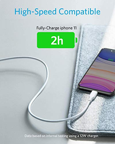 iPhone Charger 3 Pack Anker Powerline Lightning Cable 3ft Apple MFi Certified  Lightning Cables for