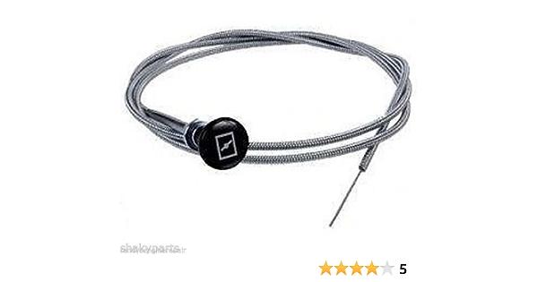 "Universal 237 Rotary Push Pull Choke Cable 63/"" Inner 60/"" Conduit Lawn Mower"