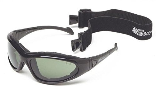 xtreme Sport Goggle, Metallic Black Frame, Grey, Clear, Yellow Lens (Body Specs Black Sunglasses)