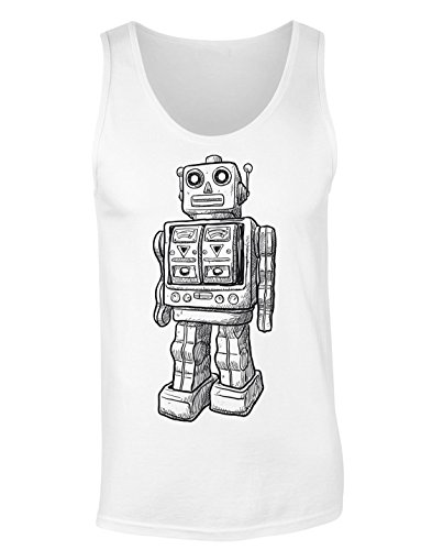 Cool Robot Sketch T-shirt senza maniche per Donne Shirt