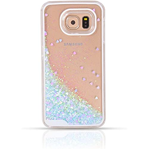 Galaxy S7 Liquid Case, S7 Liquid Case,Ruky Fashion Creative Design Flowing Liquid Floating Bling Glitter Sparkle Love Heart Cover Case For Samsung Galaxy Sales
