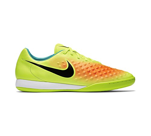 Nike Magistax Onda Ii Ic, Botas de Fútbol para Hombre Amarillo (Volt / Black-Total Orange-Clear Jade)
