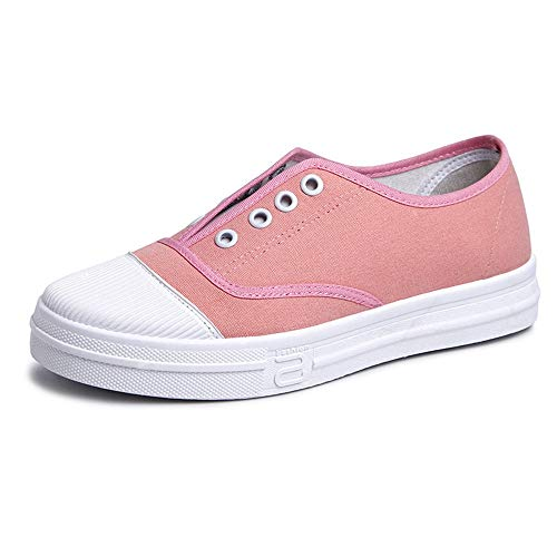 Casual Calzado Zapatos Estudiante Planos Calzado Lona AIMENGA Baja Calzado Ayuda Pink Chico De De Calzado Bzq0Adpnx