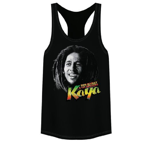 Bob Marley Kaya Remix Juniors Tank Top (Small)