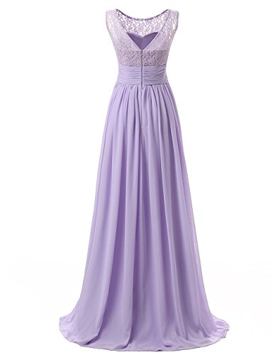 Grün Linie Damen Carnivalprom langes Schnuerung Brautjungfer Abendkleid Prinzessin A kleid Party Cocktail wP44qWES