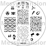 MESSY MANSION MM25 Nail Art Stamping Plate - Science Theme