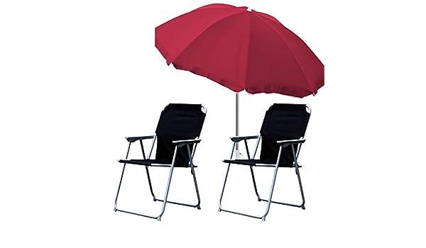 Mojawo Juego de 3 sillas de Camping (2 sillas Plegables y