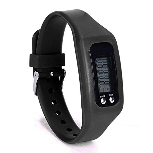 Kanzd New Sports Digital LCD pedometer Run Step Walking Distance calorie Counter Watch Bracelet (A) ()
