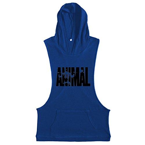 Anglo canottiera Body Stampa Allenamento Muscoli Blu Per Da Animale Lettere Top Building Befox Fitness wTzYqCY8