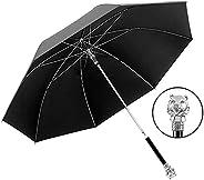 Black Long Handle Umbrella Large Double Men's Business Golf Automatic Rain and Dual-Purpose Alloy Bone Mat