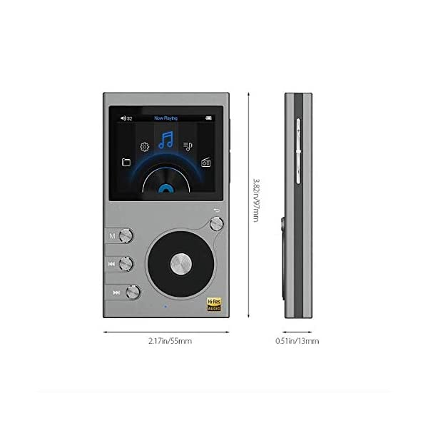 MP3 Player, 8GB Portable Sports Music Player with FM Radio Text Reading Bluetooth Function All-Metal Structure Extremely Long Battery Life 6