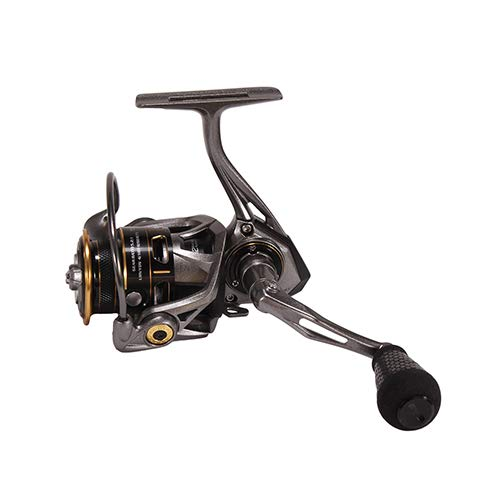 Lews Fishing, Custom Pro Speed Spin Spinning Reels, 5.2:1 Gear Ratio, 12 Bearings, 8 lb Max Drag, Ambidextrous